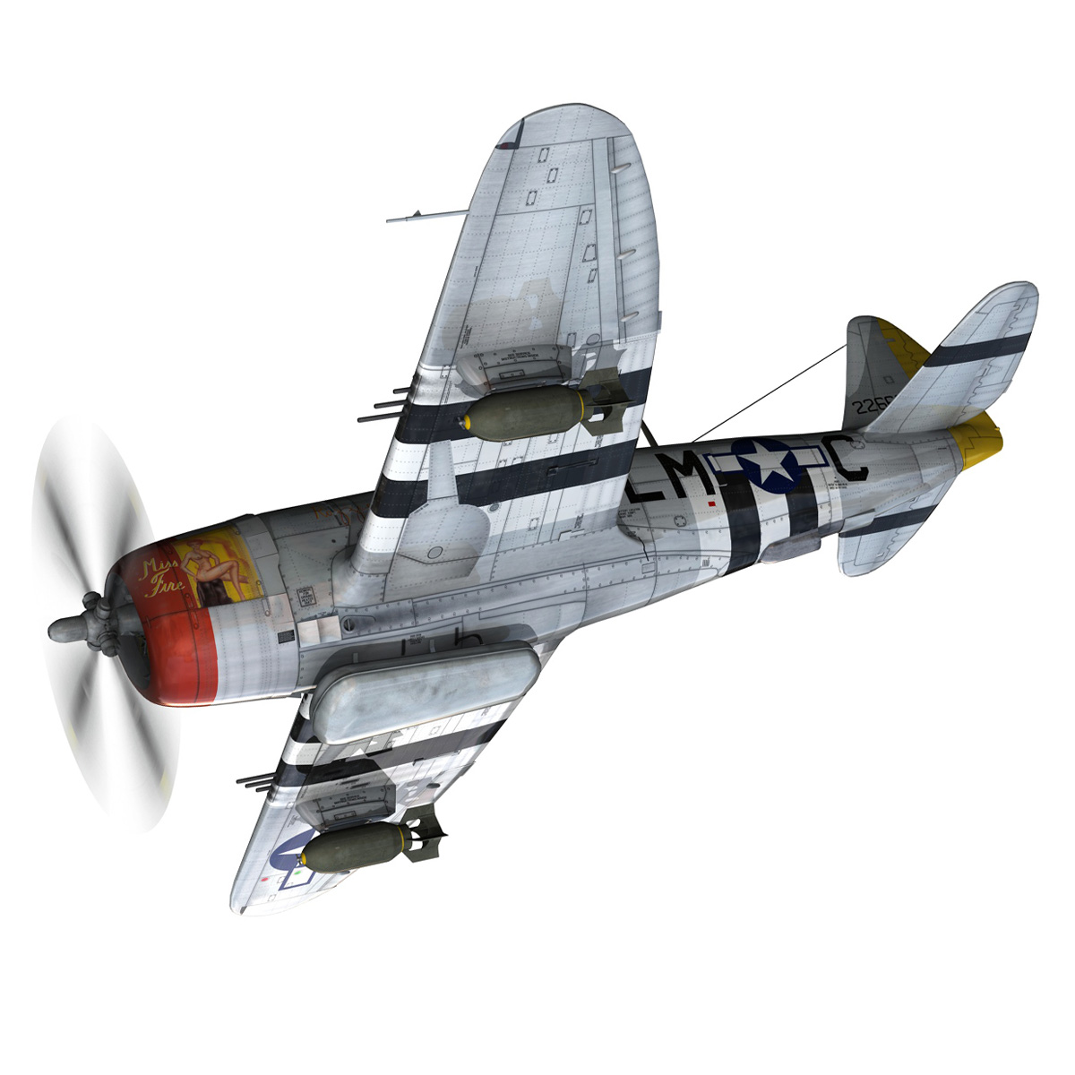 Republic P-47D Thunderbolt - Rozzie Geth II 3d model  279770