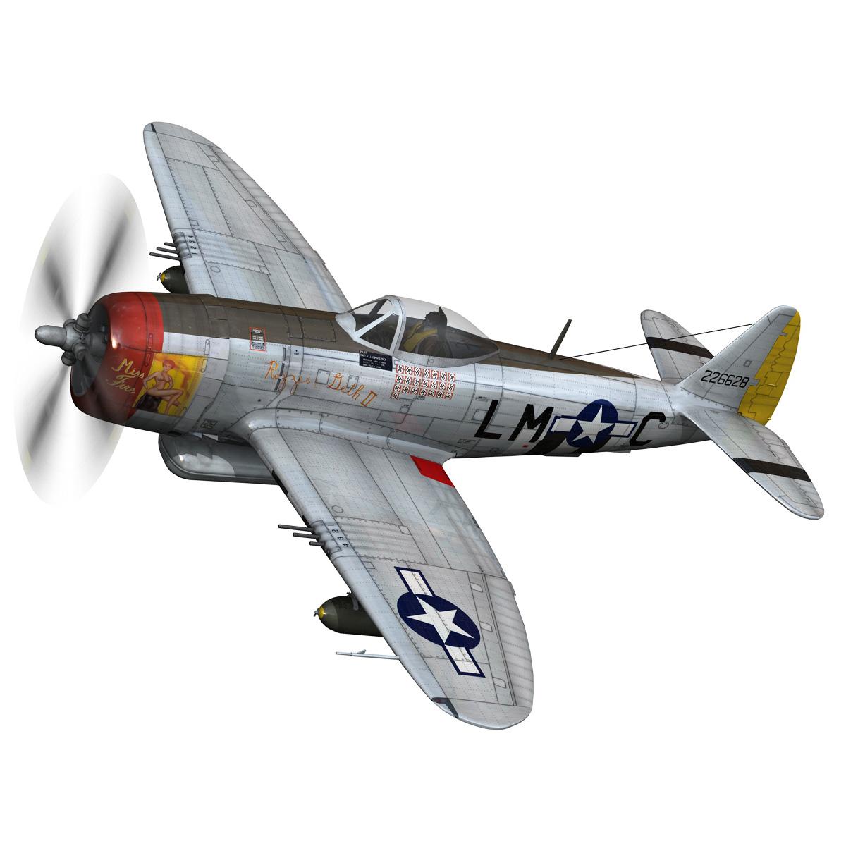 republic p-47d thunderbolt – rozzie geth ii 3d model fbx lwo lw lws obj c4d 279771