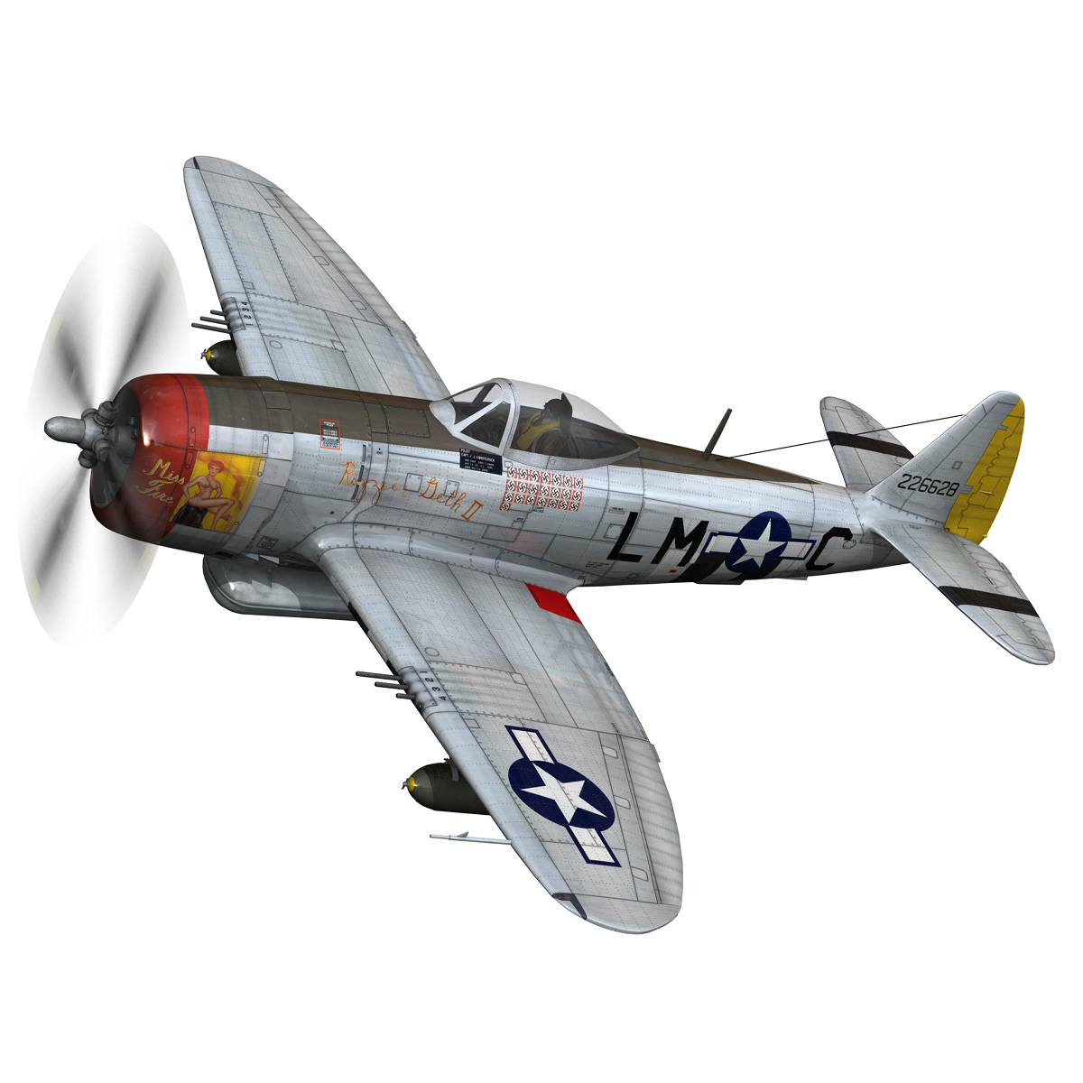 Republic P-47D Thunderbolt - Rozzie Geth II 3d model  279771