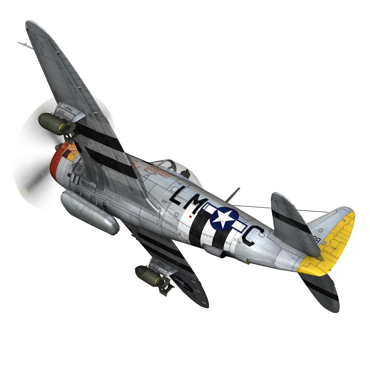 republic p-47d thunderbolt – rozzie geth ii 3d model fbx lwo lw lws obj c4d 279772