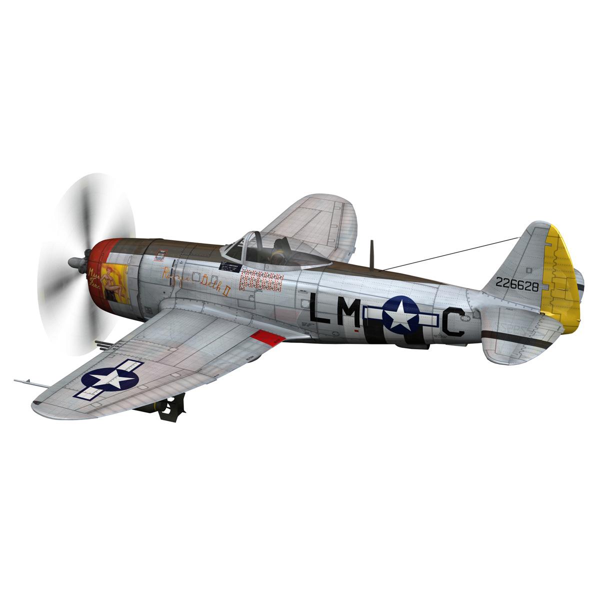 republic p-47d thunderbolt – rozzie geth ii 3d model fbx lwo lw lws obj c4d 279773