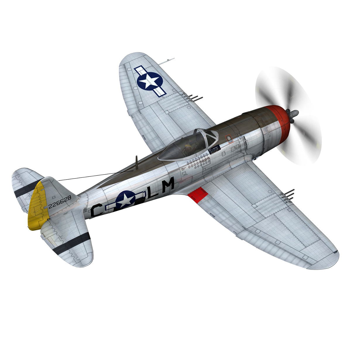 Republic P-47D Thunderbolt - Rozzie Geth II 3d model  279774