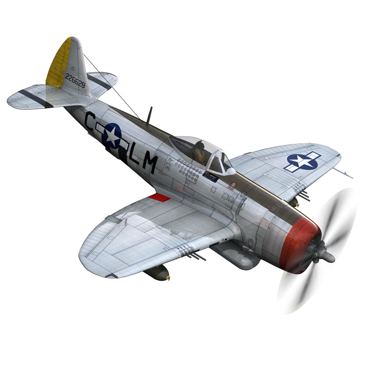 republic p-47d thunderbolt – rozzie geth ii 3d model fbx lwo lw lws obj c4d 279775