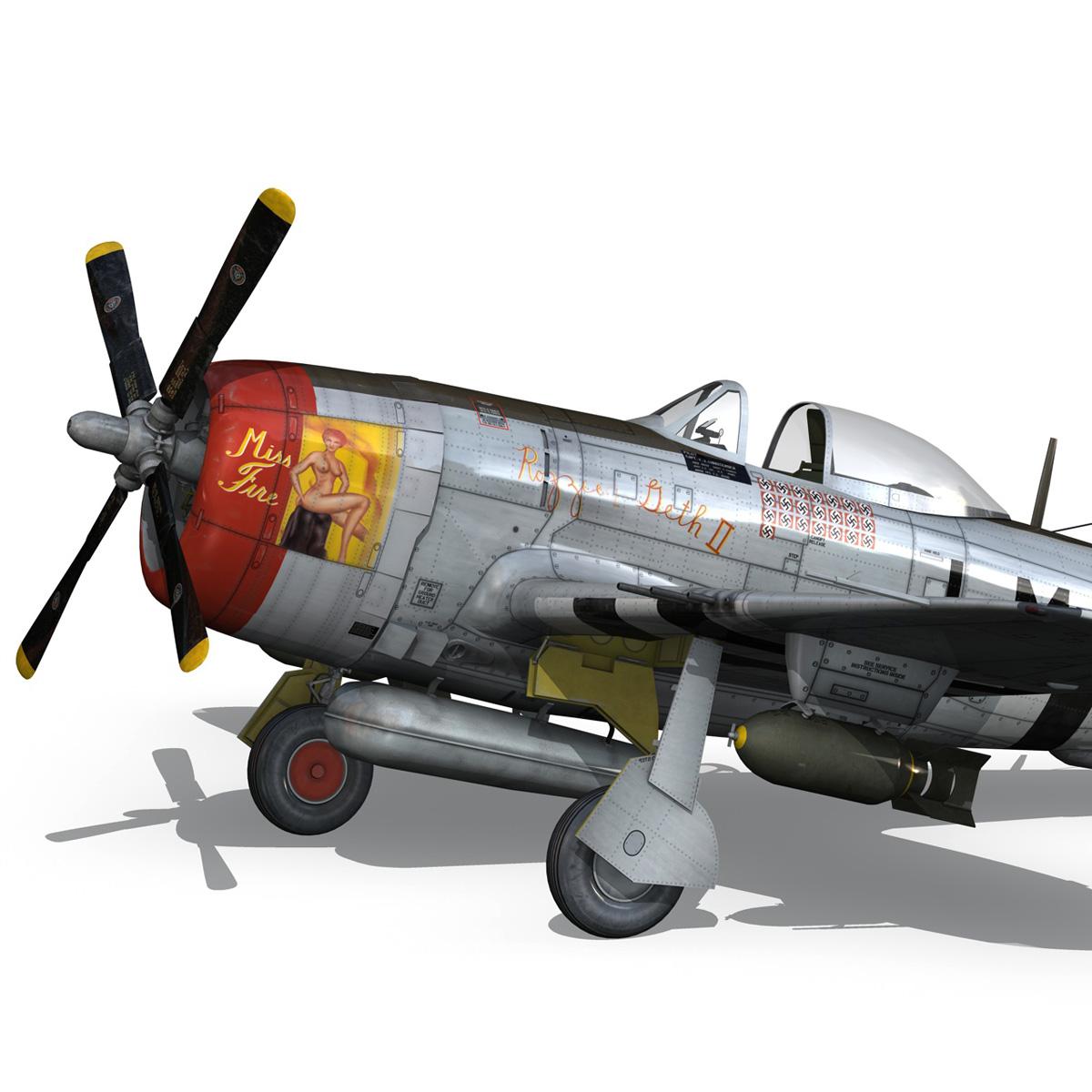 republic p-47d thunderbolt – rozzie geth ii 3d model fbx lwo lw lws obj c4d 279776