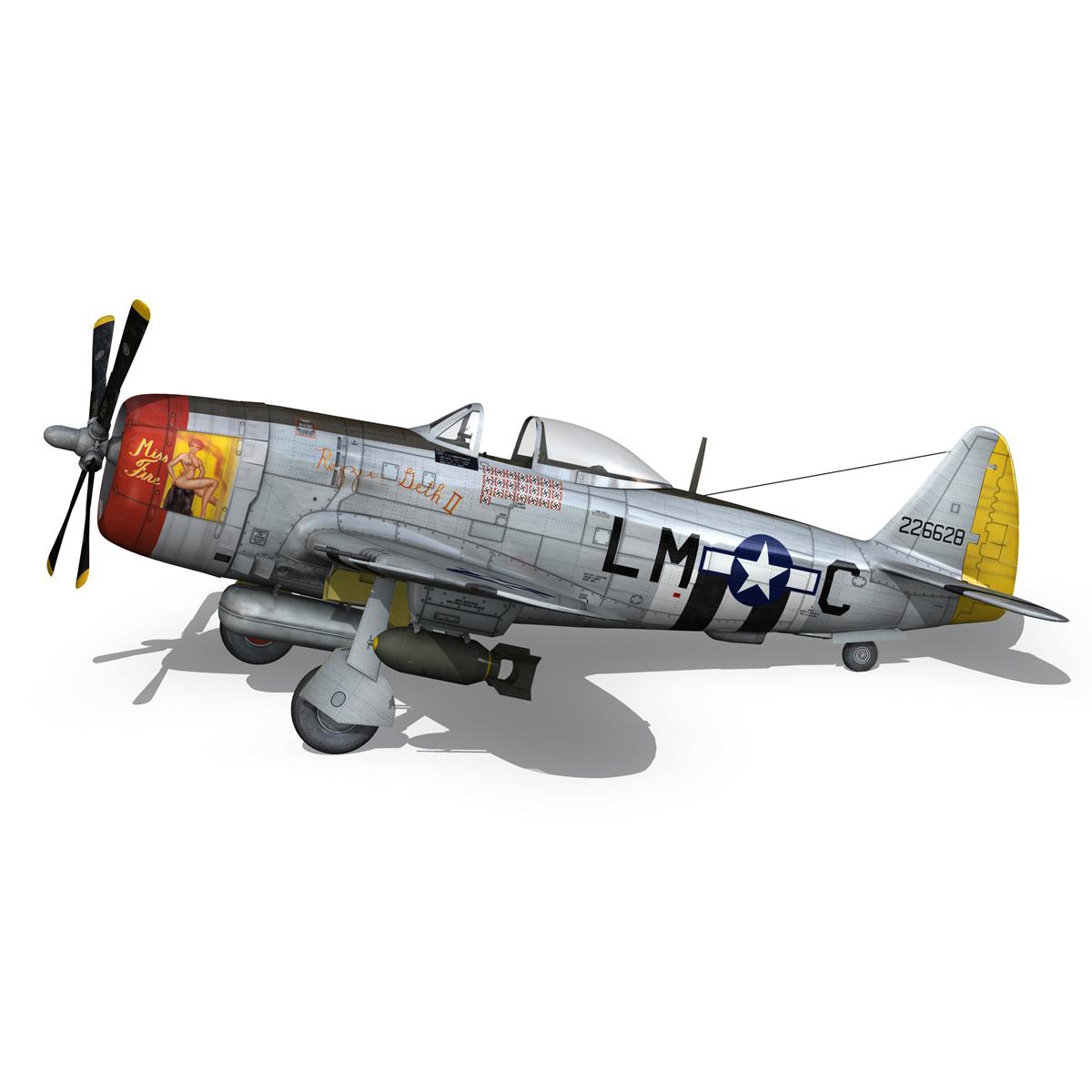 republic p-47d thunderbolt – rozzie geth ii 3d model fbx lwo lw lws obj c4d 279777