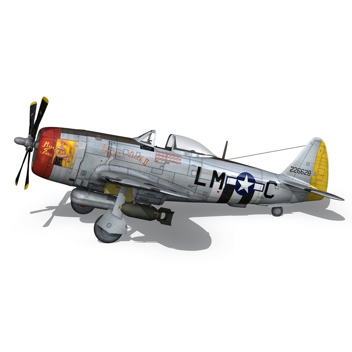 Republic P-47D Thunderbolt - Rozzie Geth II 3d model  279777