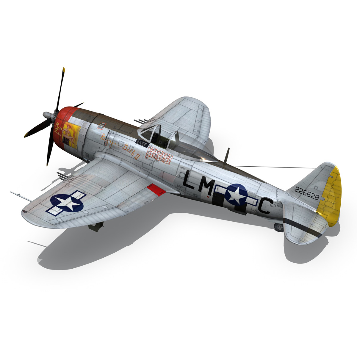 Republic P-47D Thunderbolt - Rozzie Geth II 3d model  279778