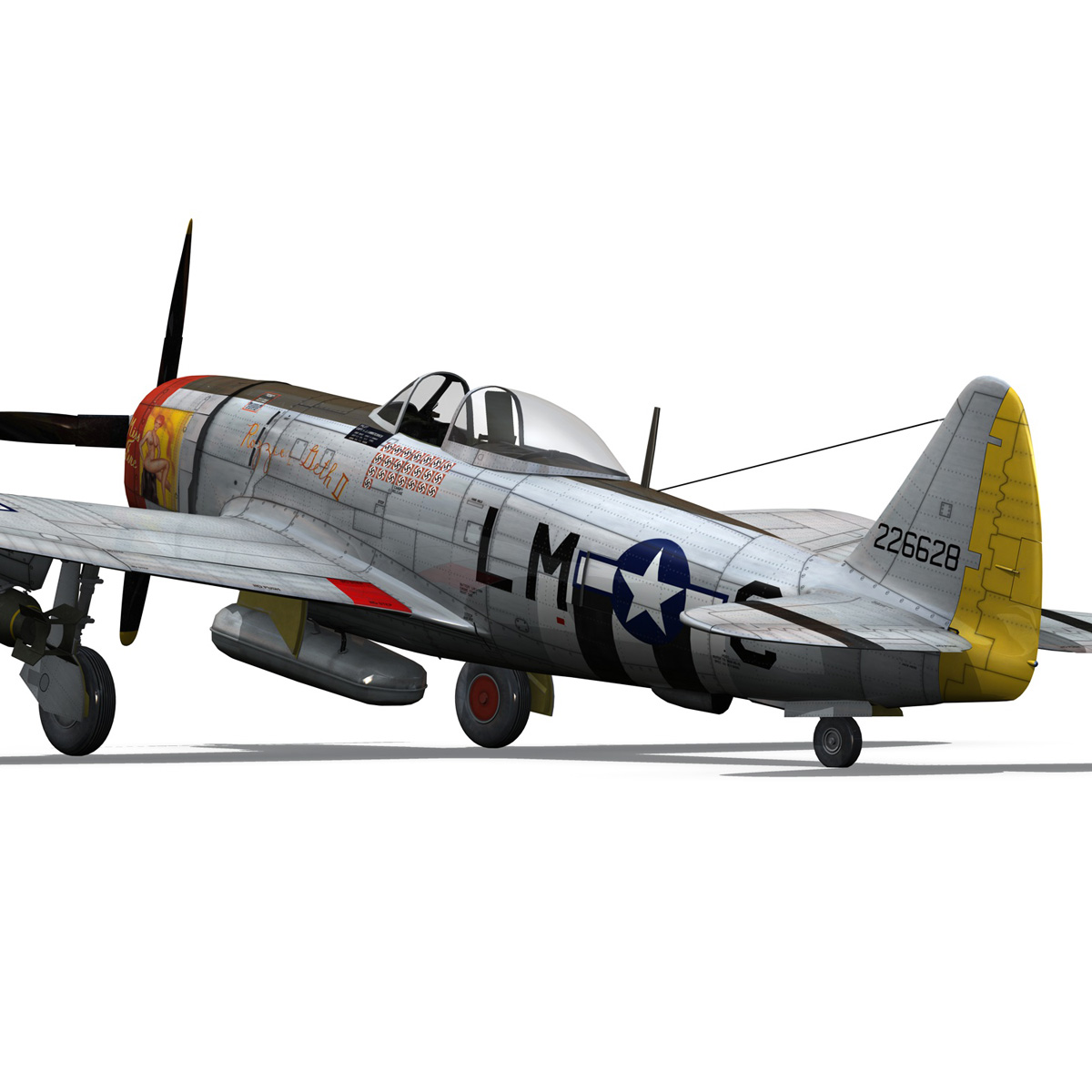 Republic P-47D Thunderbolt - Rozzie Geth II 3d model  279779
