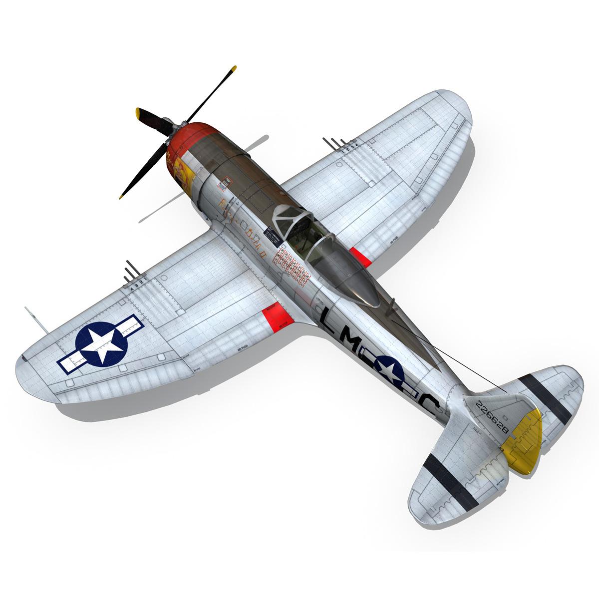 republic p-47d thunderbolt – rozzie geth ii 3d model fbx lwo lw lws obj c4d 279780