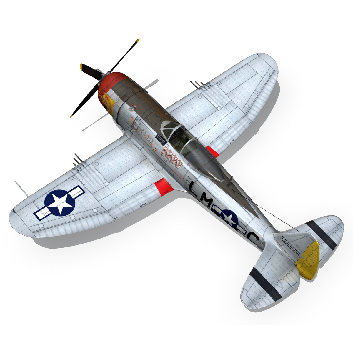 Republic P-47D Thunderbolt - Rozzie Geth II 3d model  279780