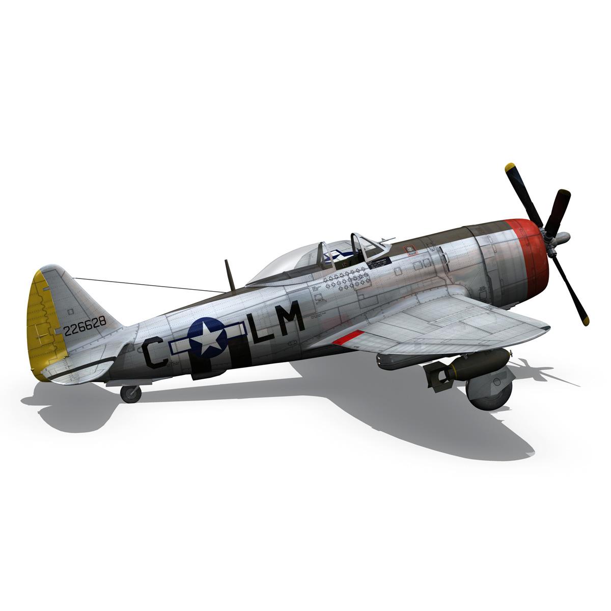 republic p-47d thunderbolt – rozzie geth ii 3d model fbx lwo lw lws obj c4d 279781