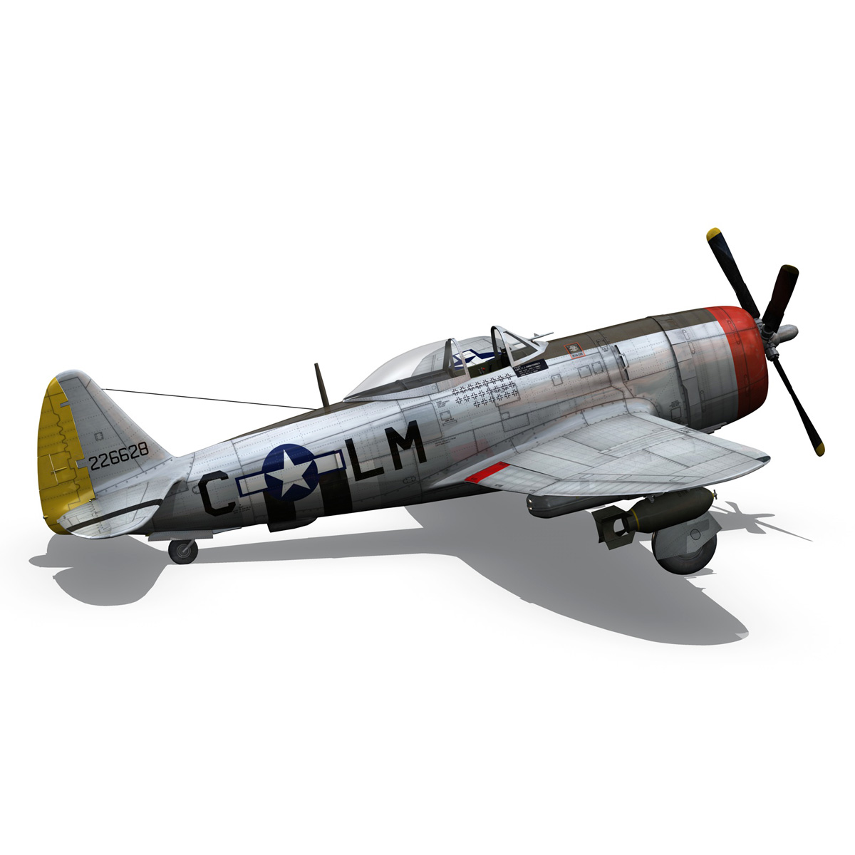 Republic P-47D Thunderbolt - Rozzie Geth II 3d model  279781