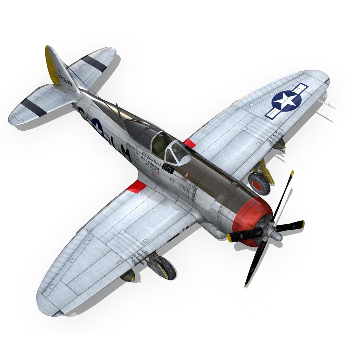 republic p-47d thunderbolt – rozzie geth ii 3d model fbx lwo lw lws obj c4d 279782