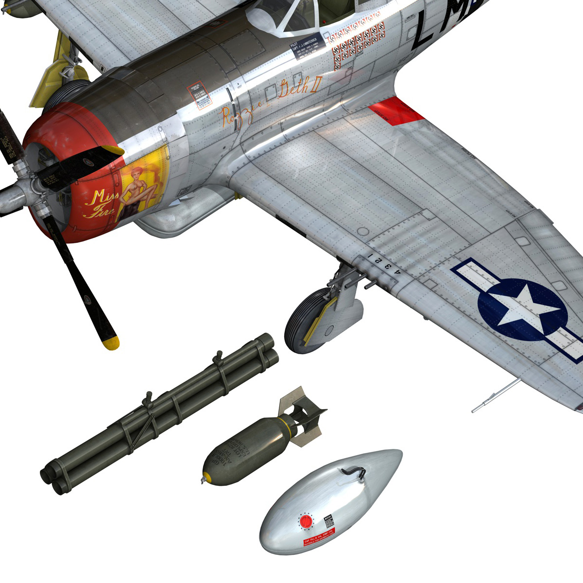 Republic P-47D Thunderbolt - Rozzie Geth II 3d model  279783