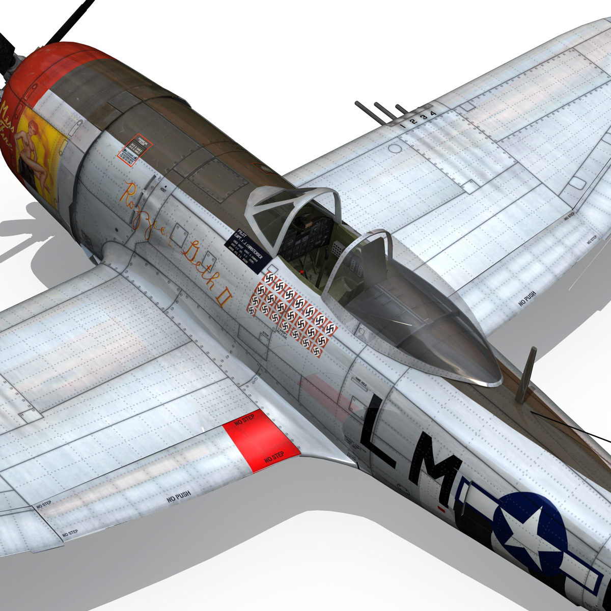 republic p-47d thunderbolt – rozzie geth ii 3d model fbx lwo lw lws obj c4d 279784