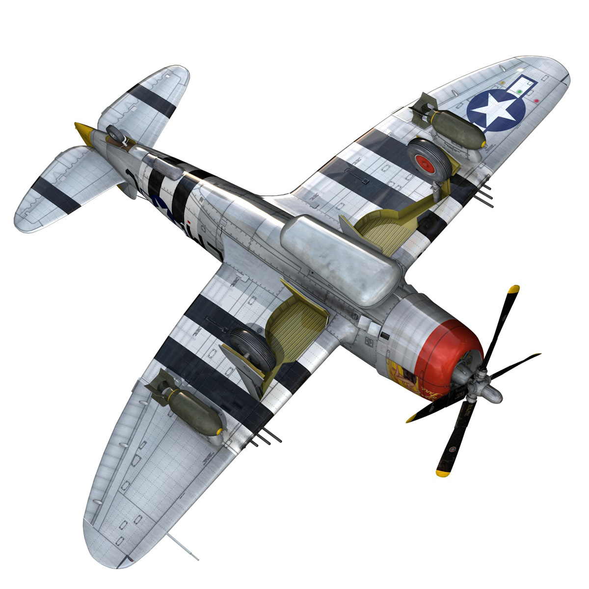 Republic P-47D Thunderbolt - Rozzie Geth II 3d model  279785