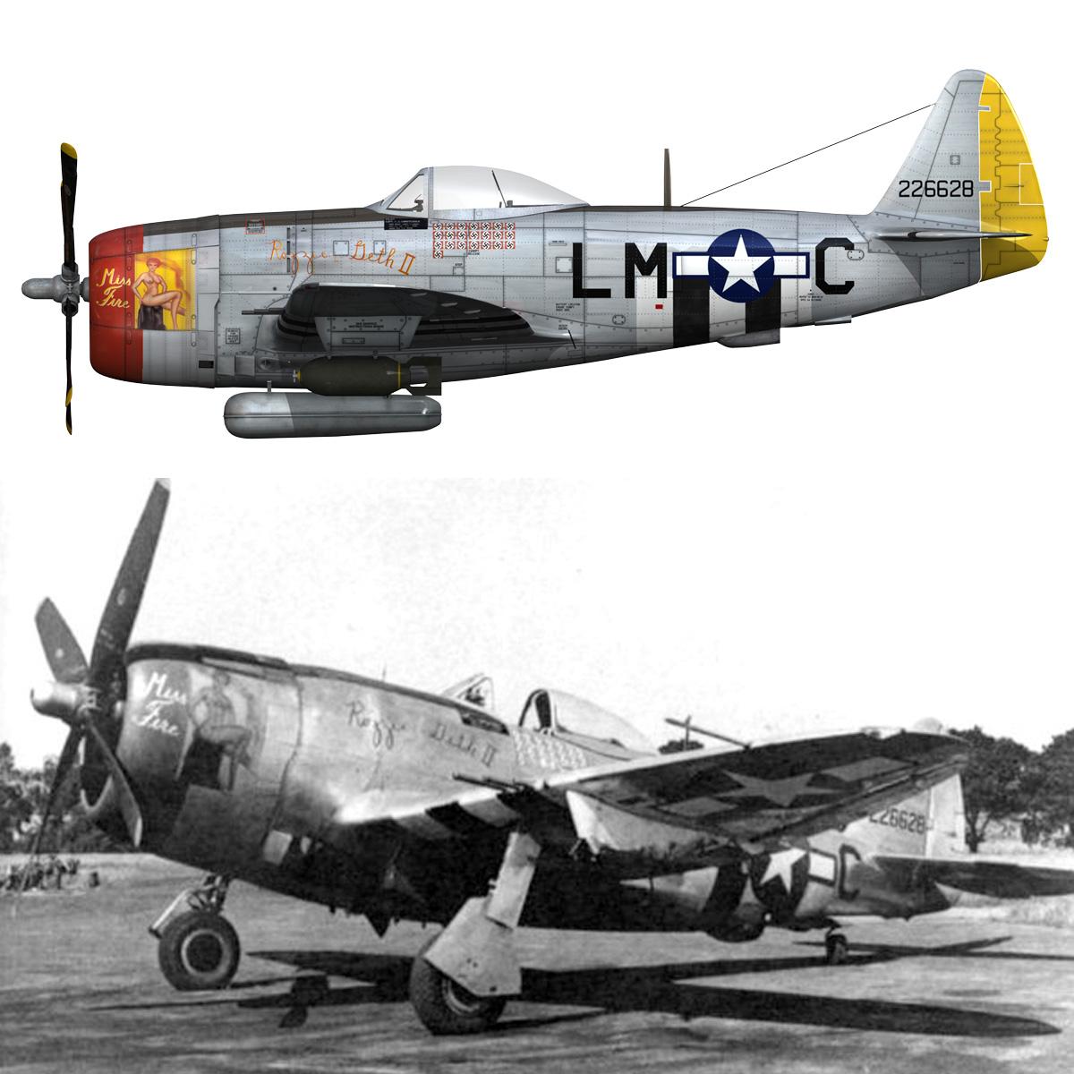 republic p-47d thunderbolt – rozzie geth ii 3d model fbx lwo lw lws obj c4d 279786
