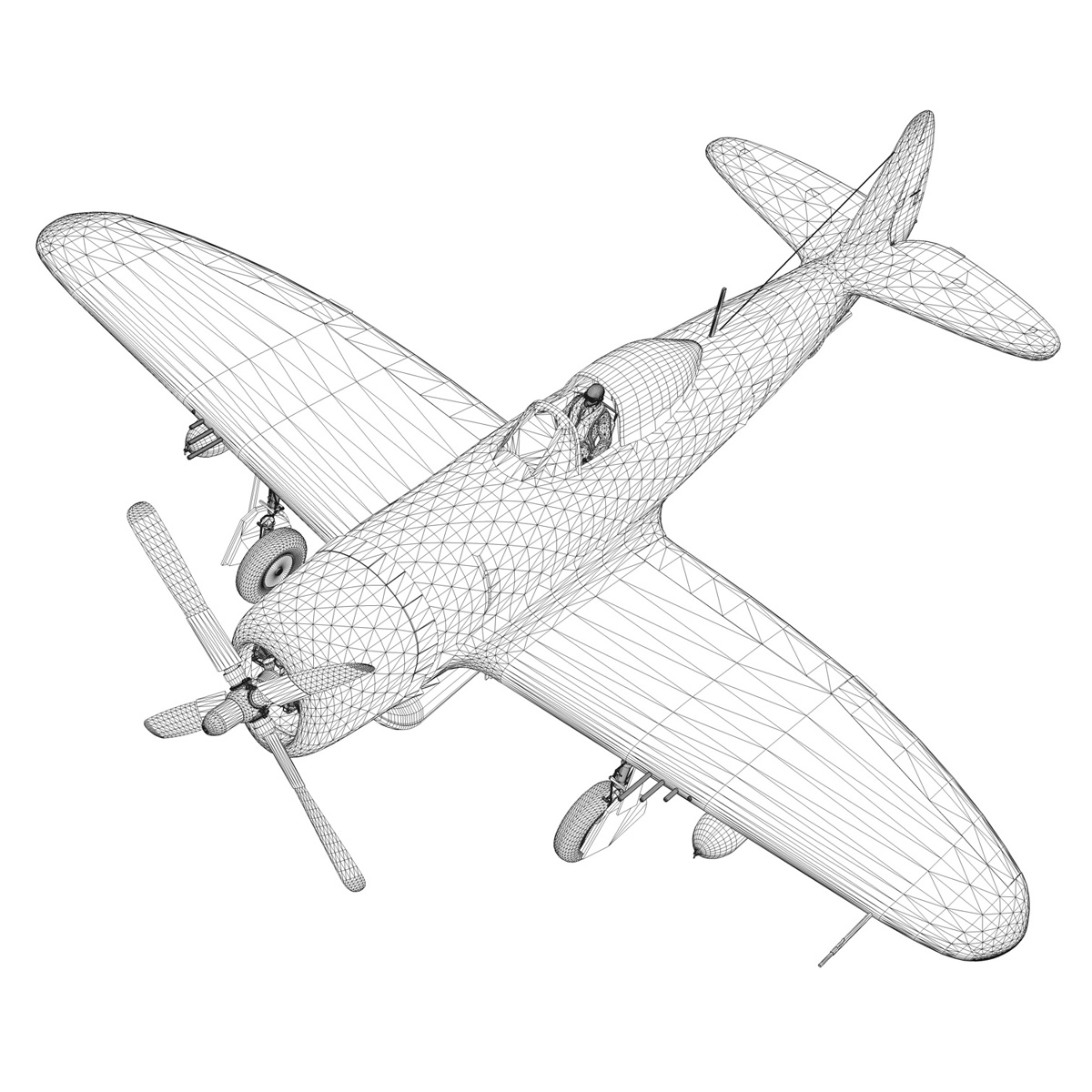 Republic P-47D Thunderbolt - Rozzie Geth II 3d model  279788