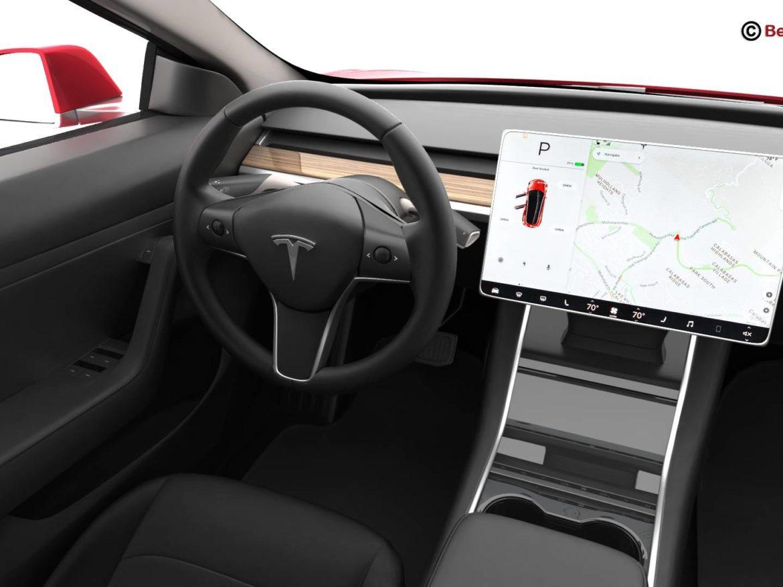 Tesla Model 3 2018 3d model high poly 3ds max fbx c4d lwo lws lw ma mb obj