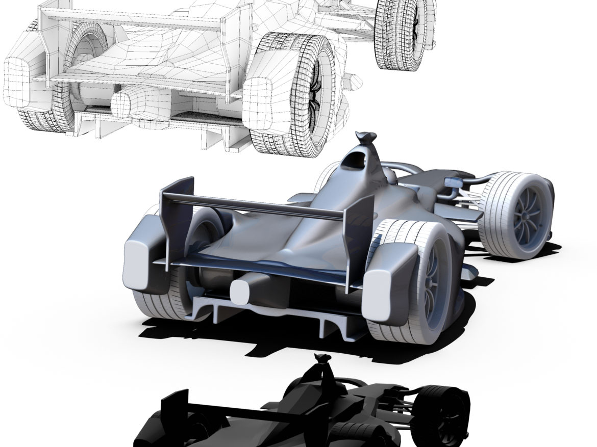 Formula 2018 3d model high poly low poly