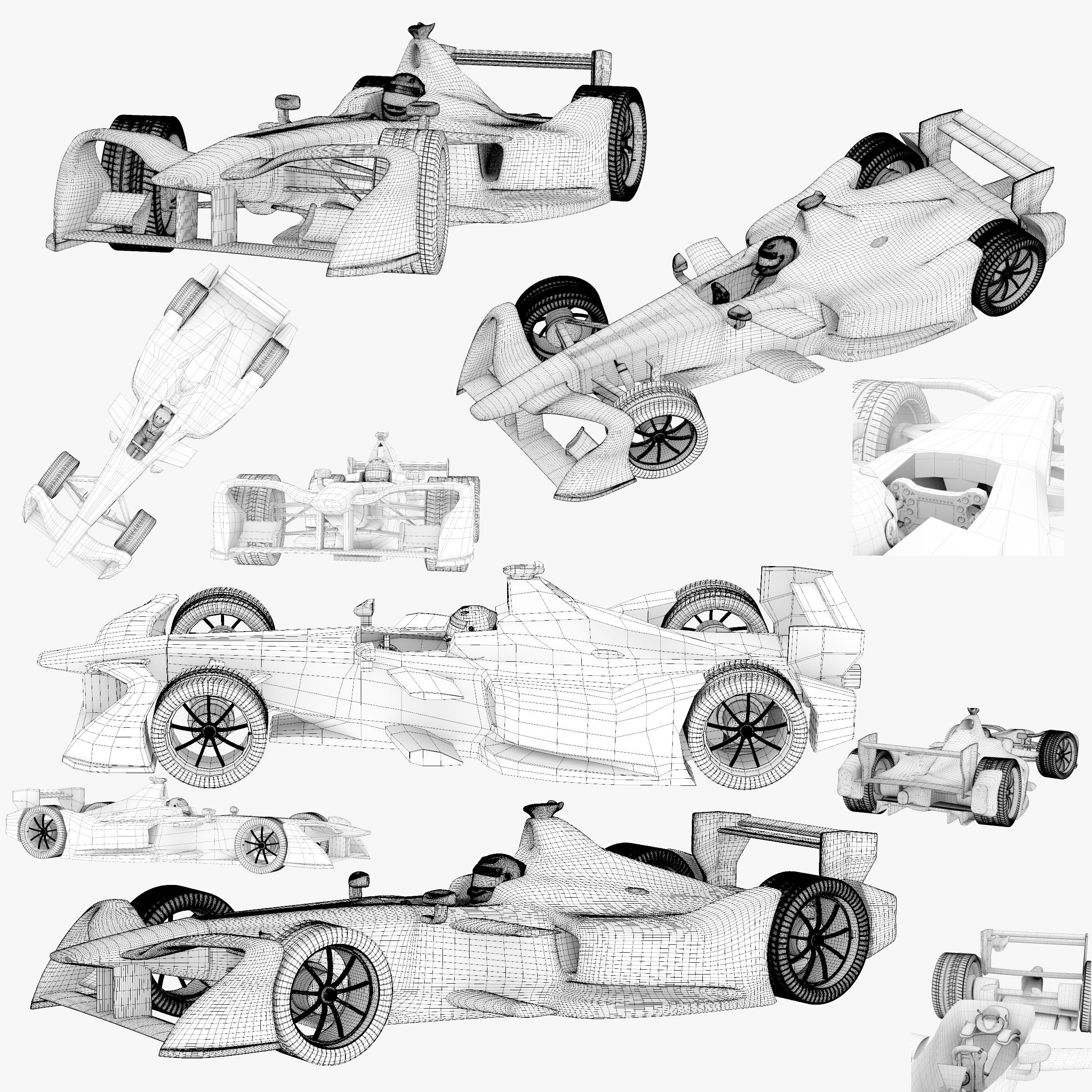formula 2018 3d model 3ds obj ma mb FBX dae c4d 279941