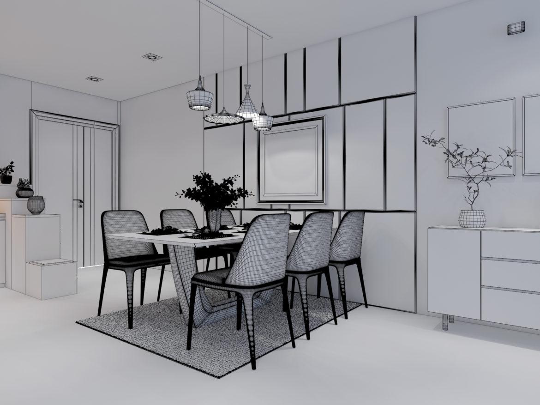 Cutaway apartment full furnitures modern design 3d model high poly max