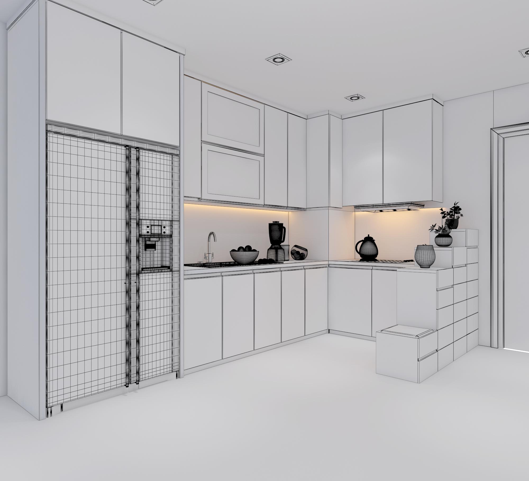 cutaway apartment full furnitures modern design 3d model max 279970