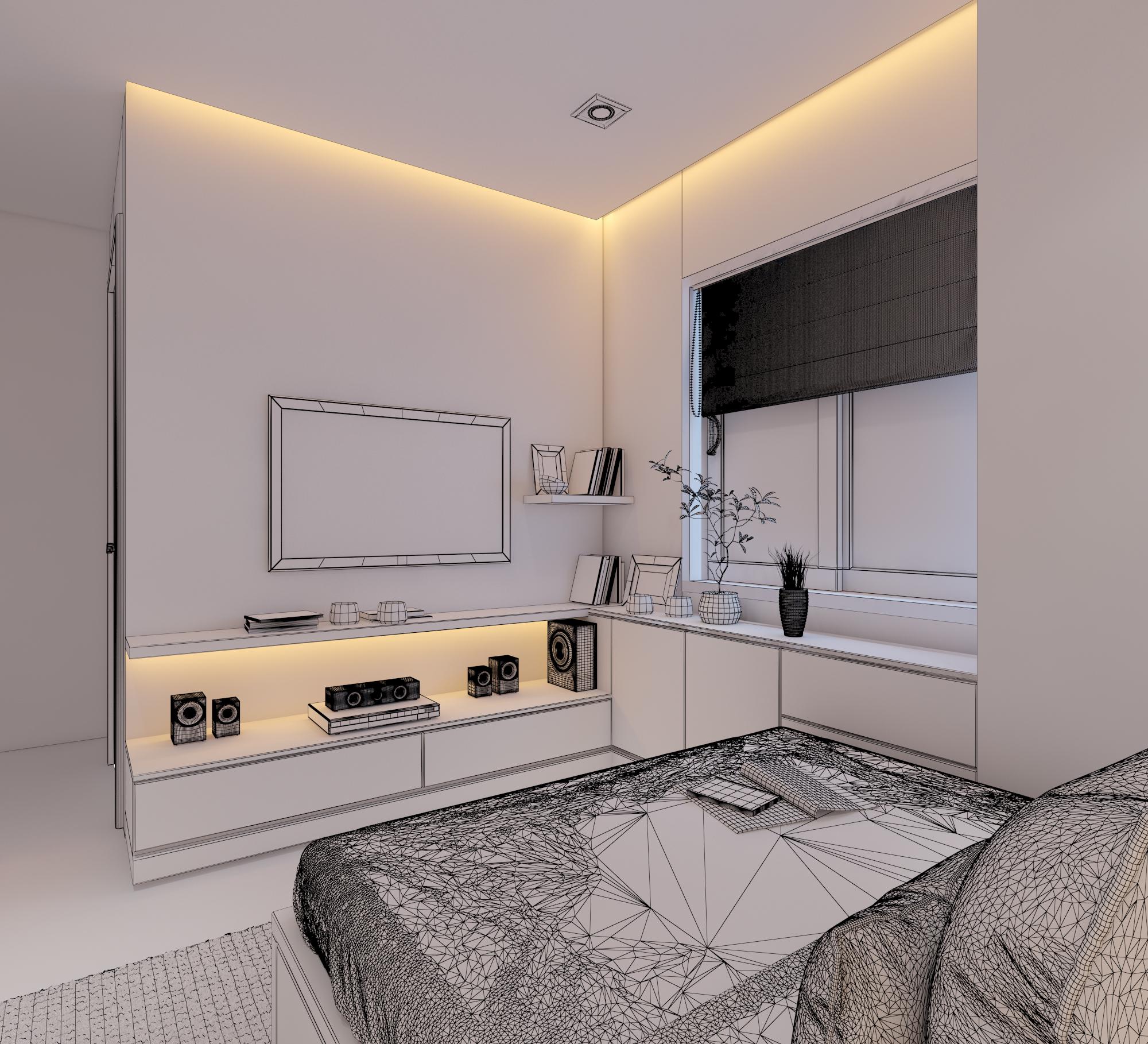 Cutaway apartment full furnitures modern design 3d model max 279971