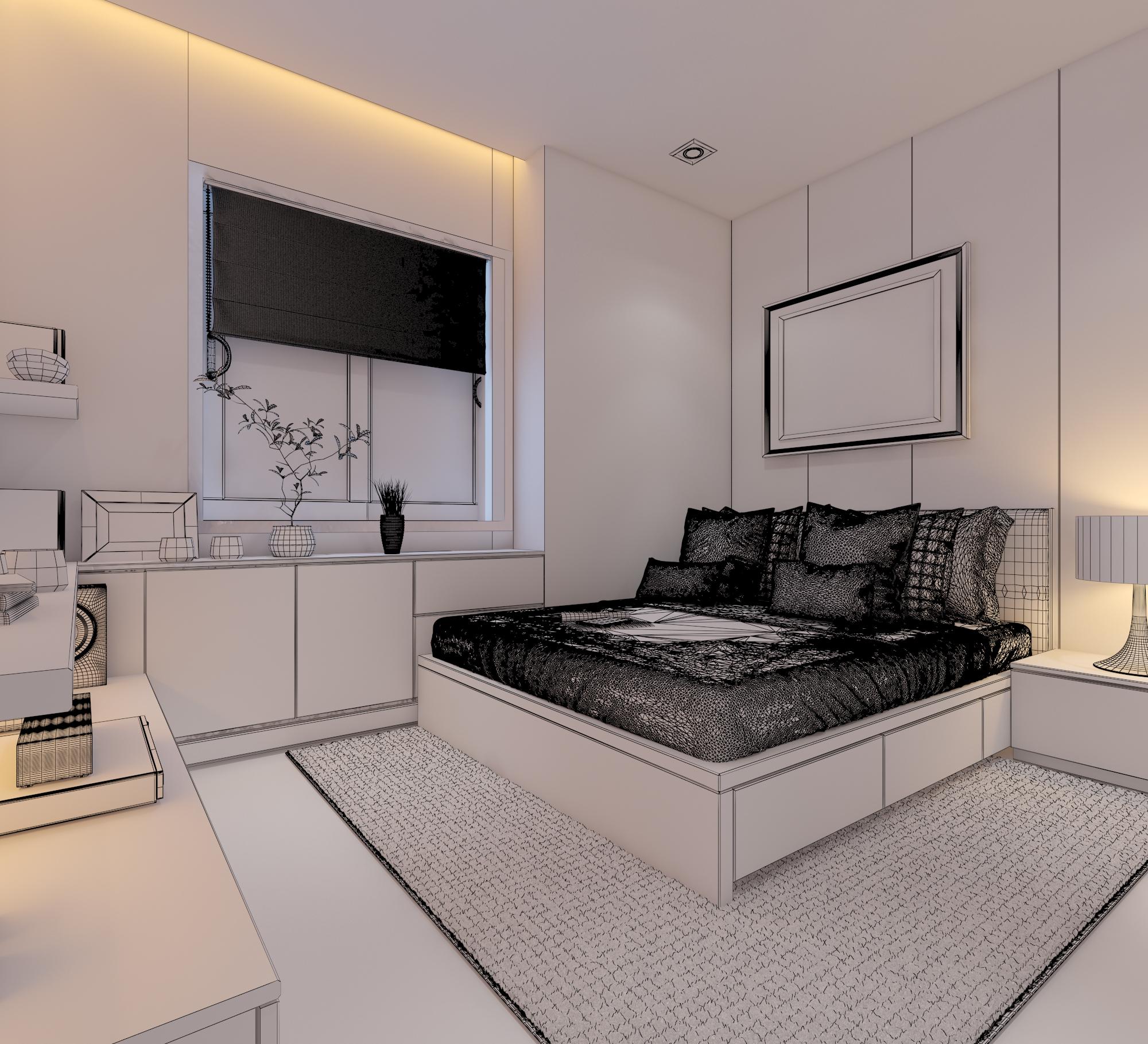 cutaway apartment full furnitures modern design 3d model max 279972
