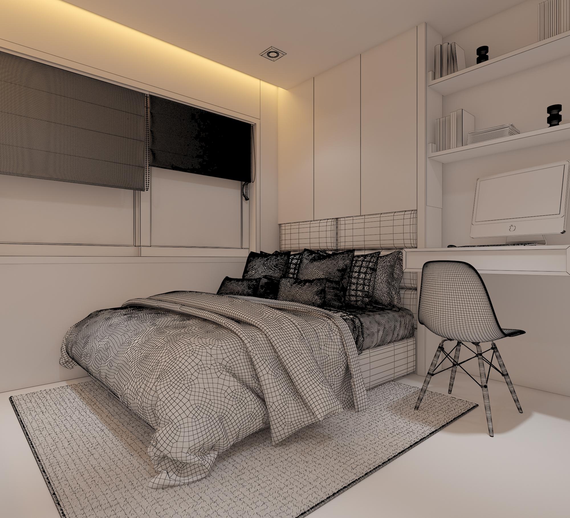 Cutaway apartment full furnitures modern design 3d model max 279973