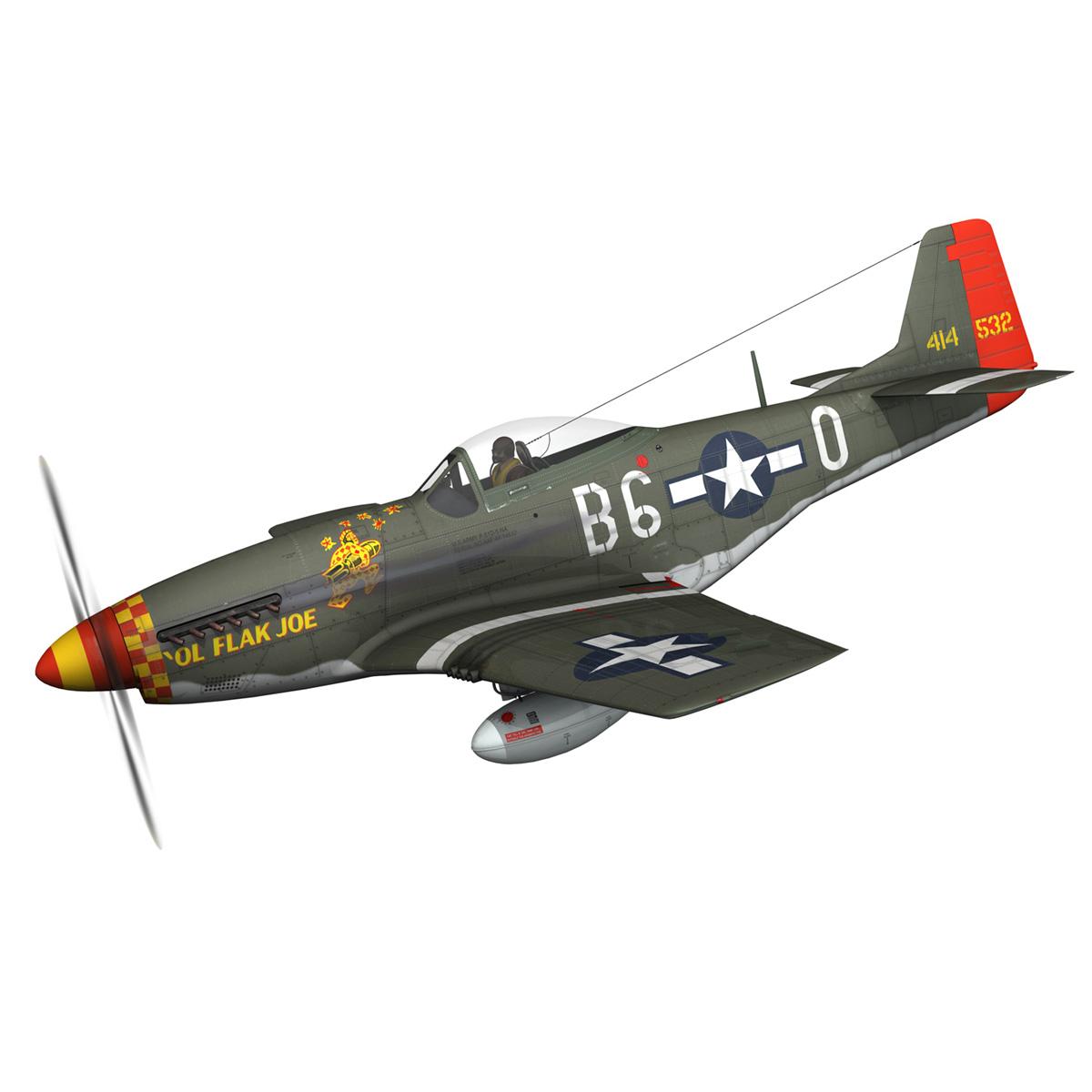 north american p-51d – ol flak joe 3d model 3ds fbx c4d lwo obj 280101