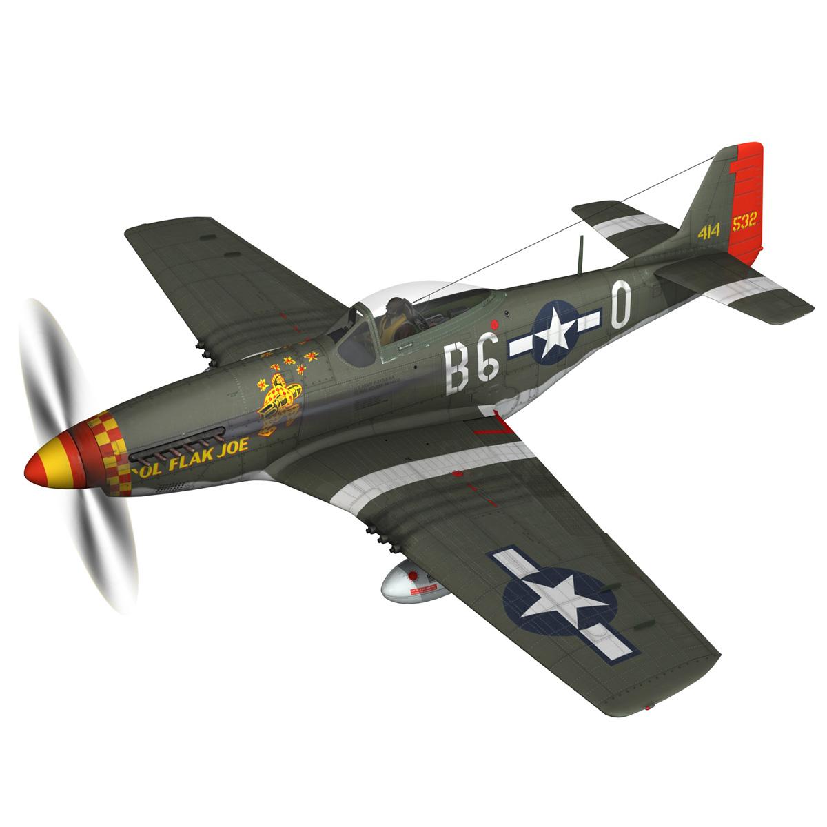 north american p-51d – ol flak joe 3d model 3ds fbx c4d lwo obj 280102