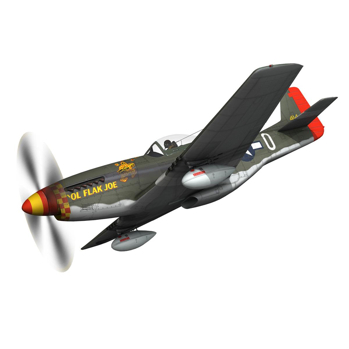 north american p-51d – ol flak joe 3d model 3ds fbx c4d lwo obj 280103