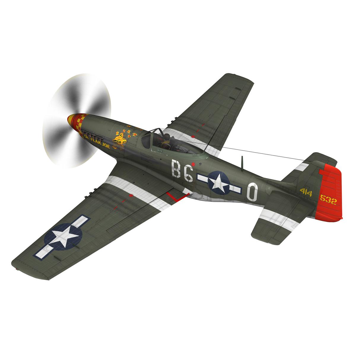 north american p-51d – ol flak joe 3d model 3ds fbx c4d lwo obj 280104