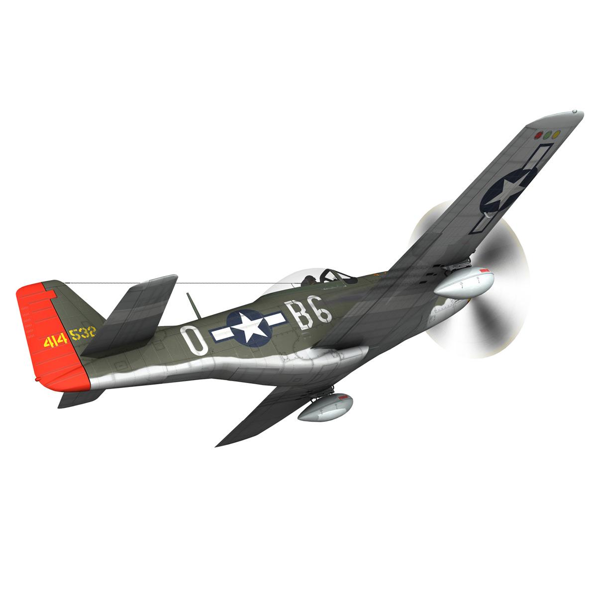 north american p-51d – ol flak joe 3d model 3ds fbx c4d lwo obj 280105