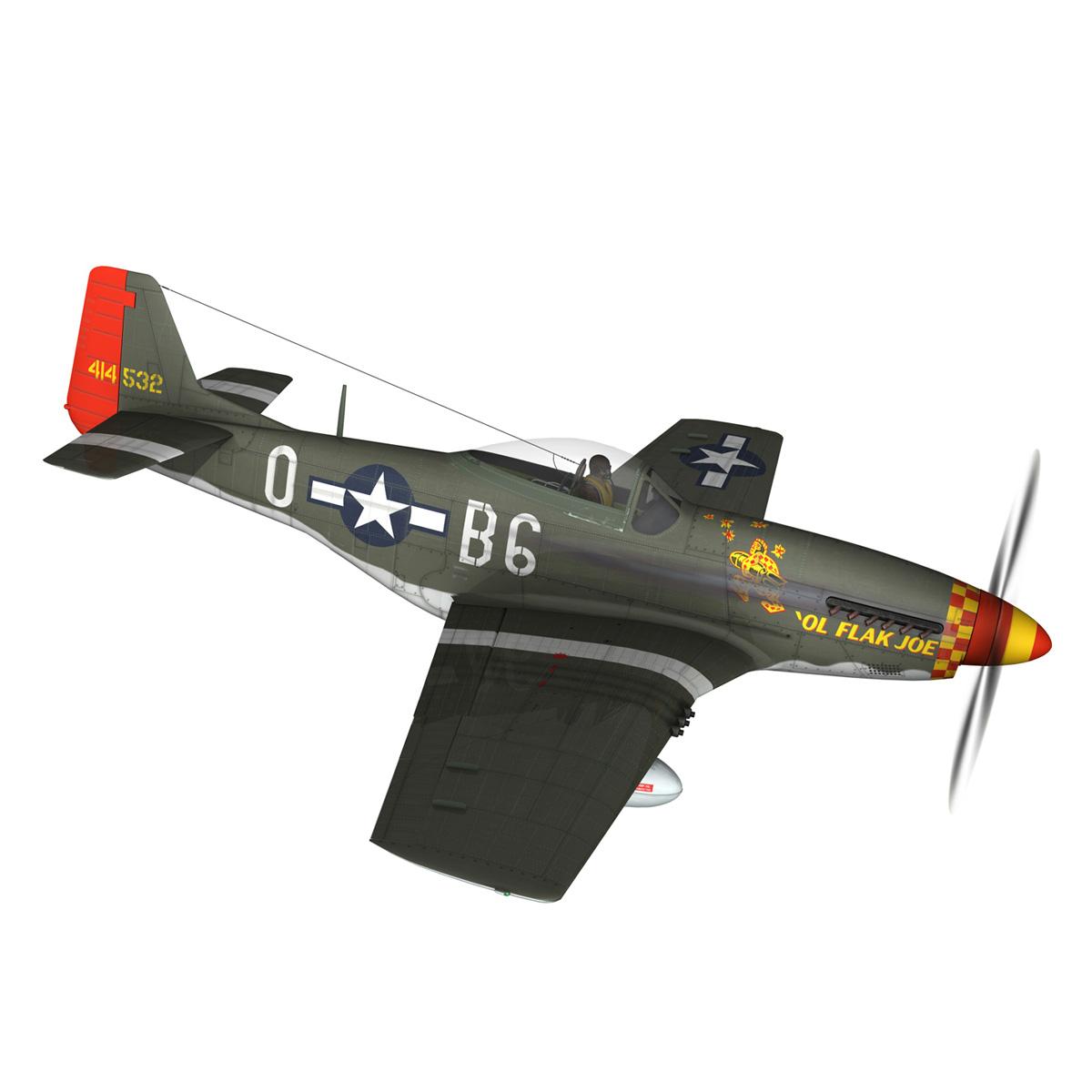 north american p-51d – ol flak joe 3d model 3ds fbx c4d lwo obj 280106