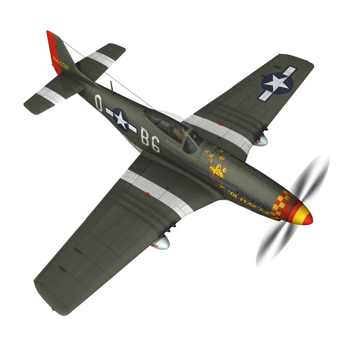 north american p-51d – ol flak joe 3d model 3ds fbx c4d lwo obj 280107