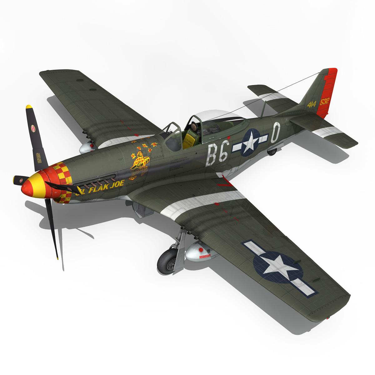 north american p-51d – ol flak joe 3d model 3ds fbx c4d lwo obj 280108