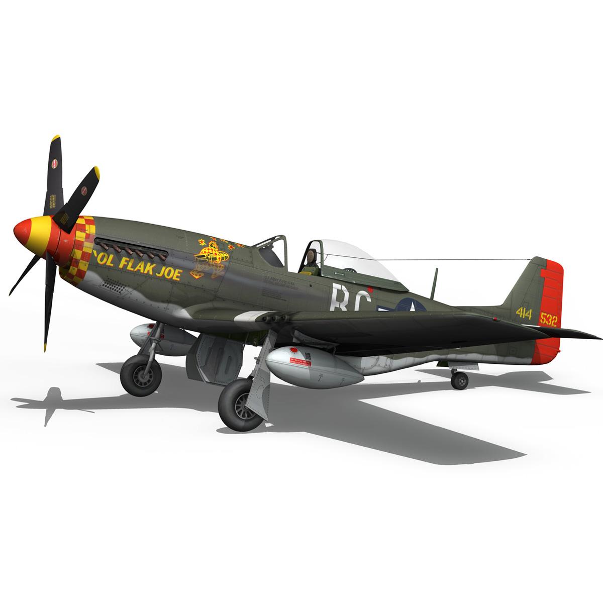 north american p-51d – ol flak joe 3d model 3ds fbx c4d lwo obj 280109