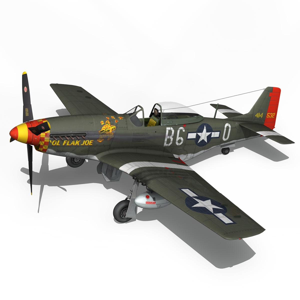 north american p-51d – ol flak joe 3d model 3ds fbx c4d lwo obj 280110