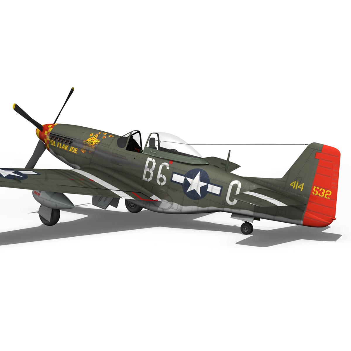north american p-51d – ol flak joe 3d model 3ds fbx c4d lwo obj 280111