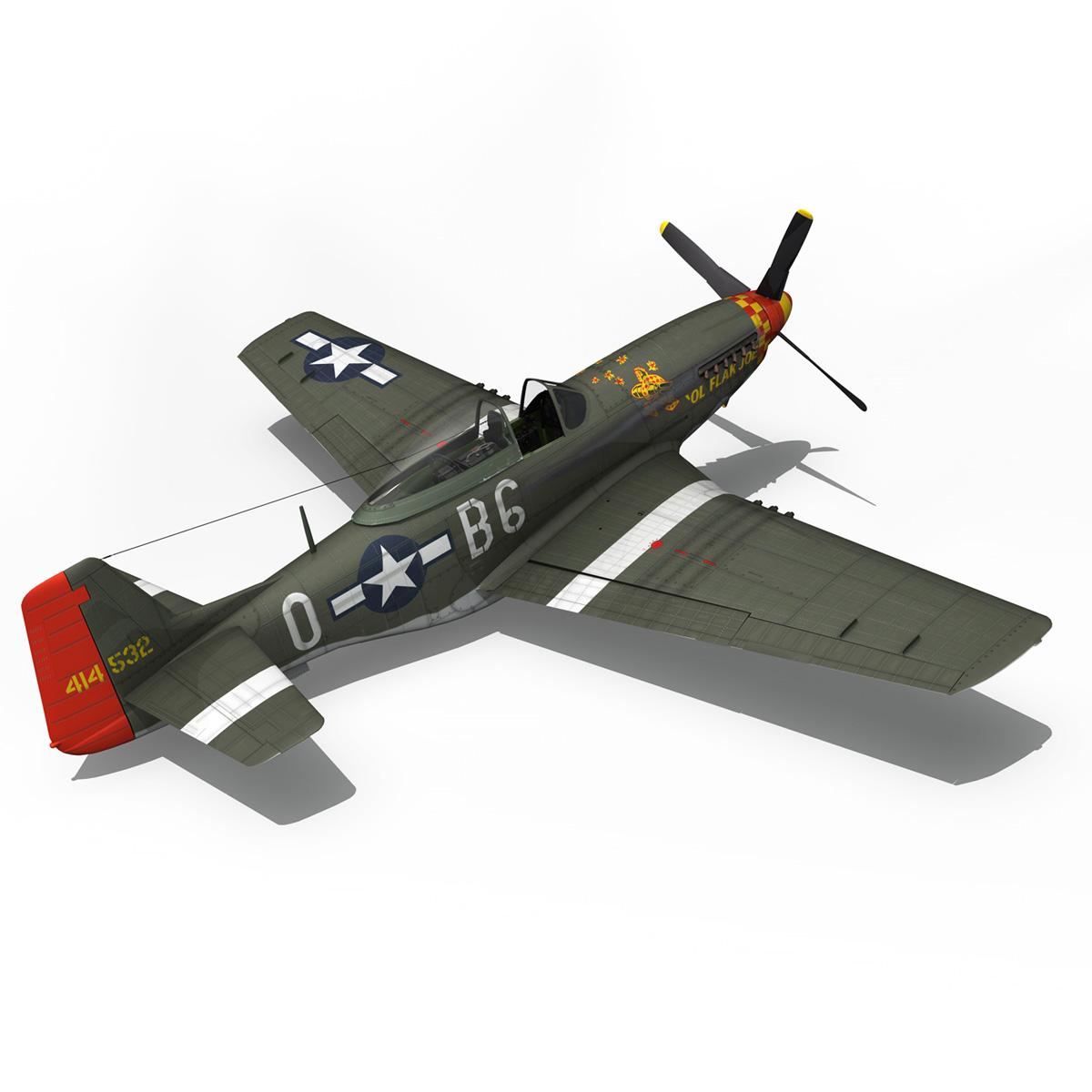 north american p-51d – ol flak joe 3d model 3ds fbx c4d lwo obj 280112