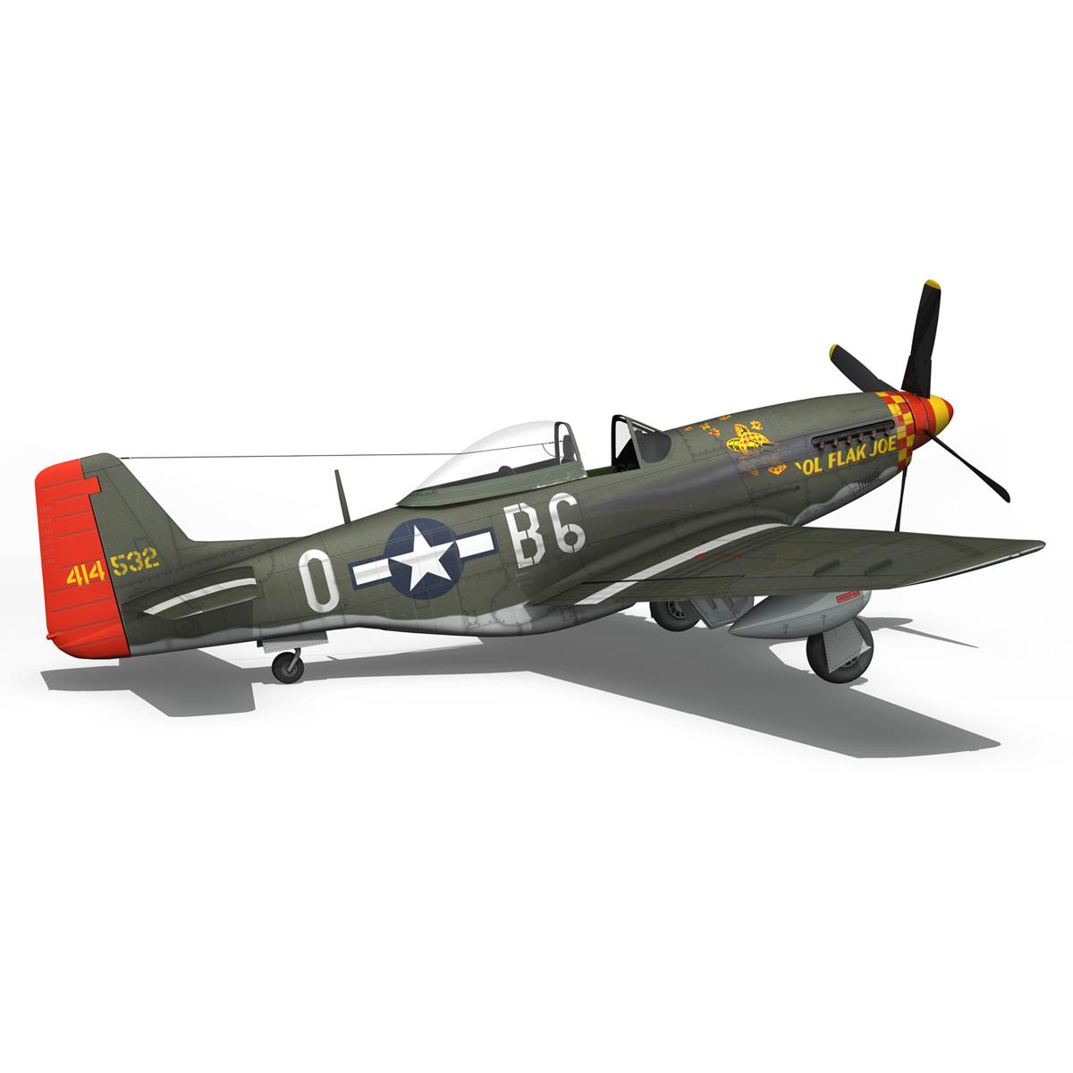 north american p-51d – ol flak joe 3d model 3ds fbx c4d lwo obj 280113