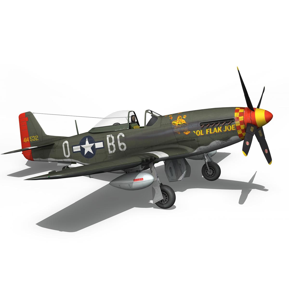 north american p-51d – ol flak joe 3d model 3ds fbx c4d lwo obj 280114