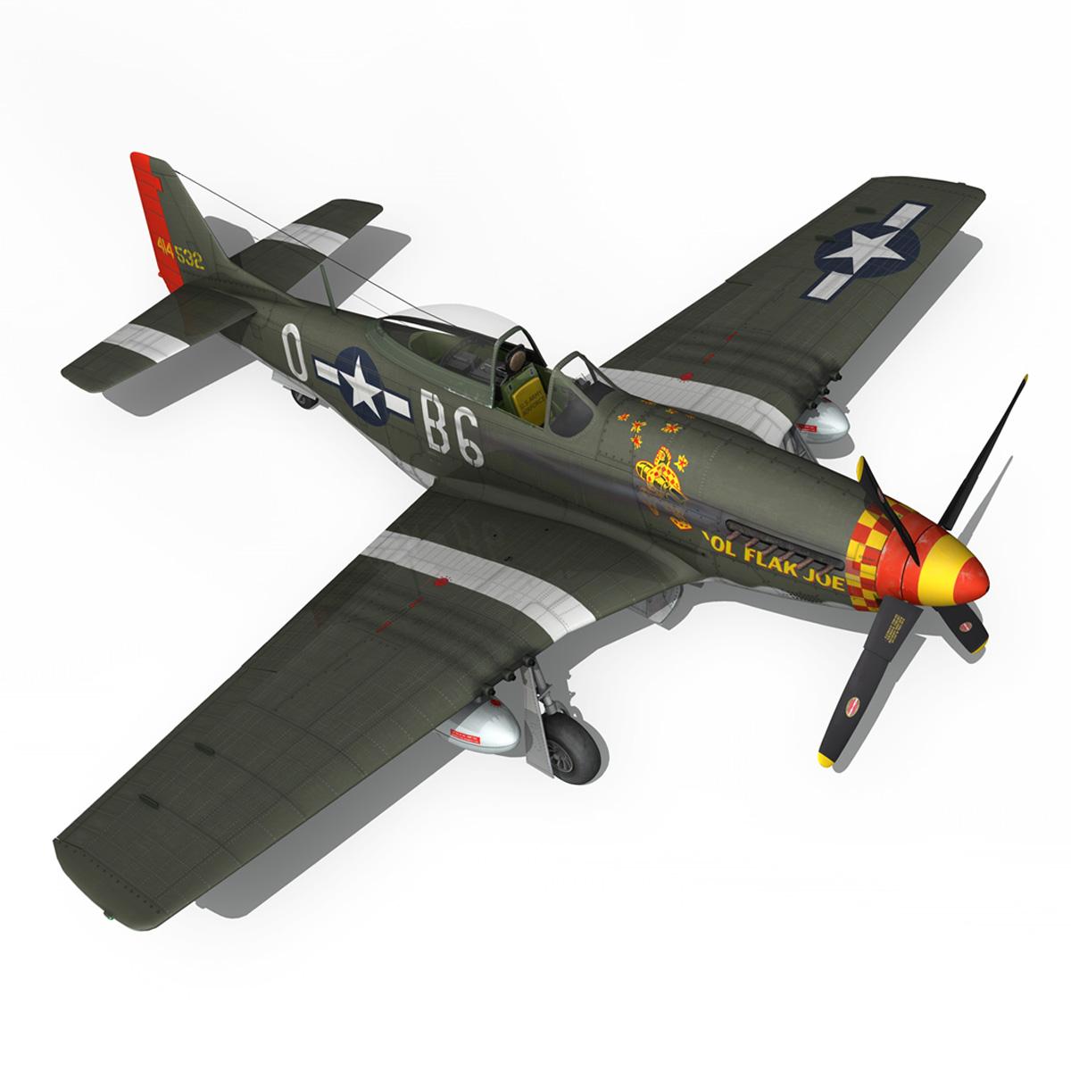 north american p-51d – ol flak joe 3d model 3ds fbx c4d lwo obj 280115