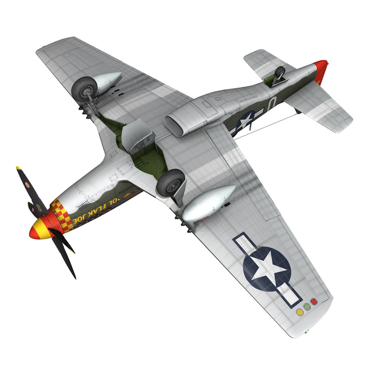 north american p-51d – ol flak joe 3d model 3ds fbx c4d lwo obj 280116