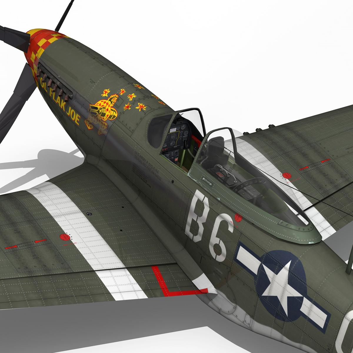 north american p-51d – ol flak joe 3d model 3ds fbx c4d lwo obj 280117
