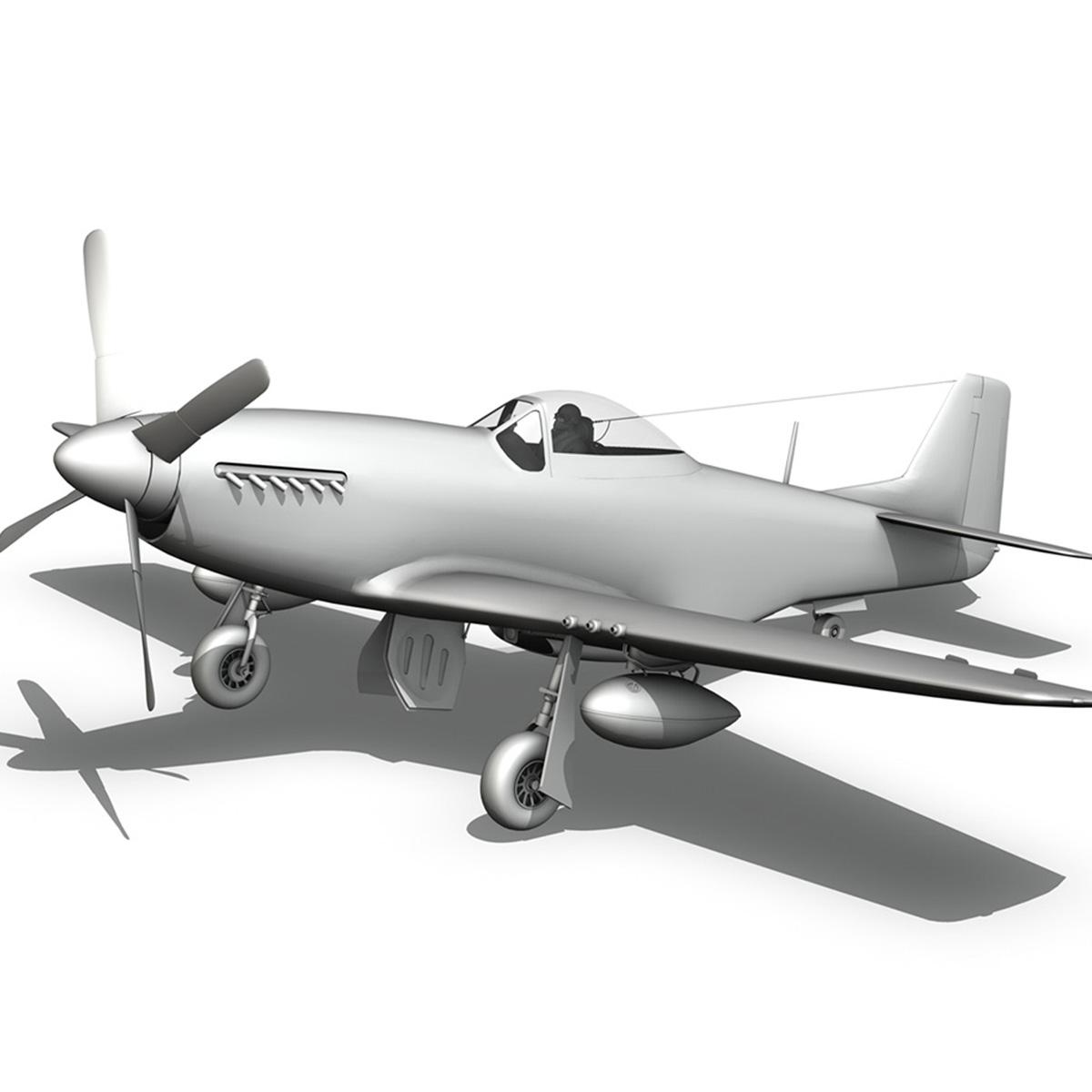 north american p-51d – ol flak joe 3d model 3ds fbx c4d lwo obj 280118