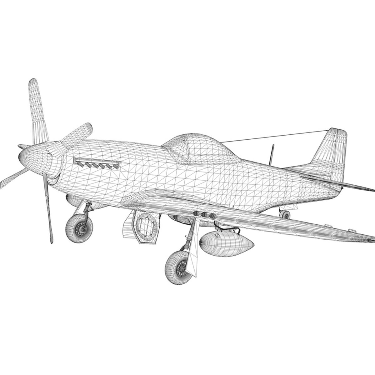 north american p-51d – ol flak joe 3d model 3ds fbx c4d lwo obj 280119