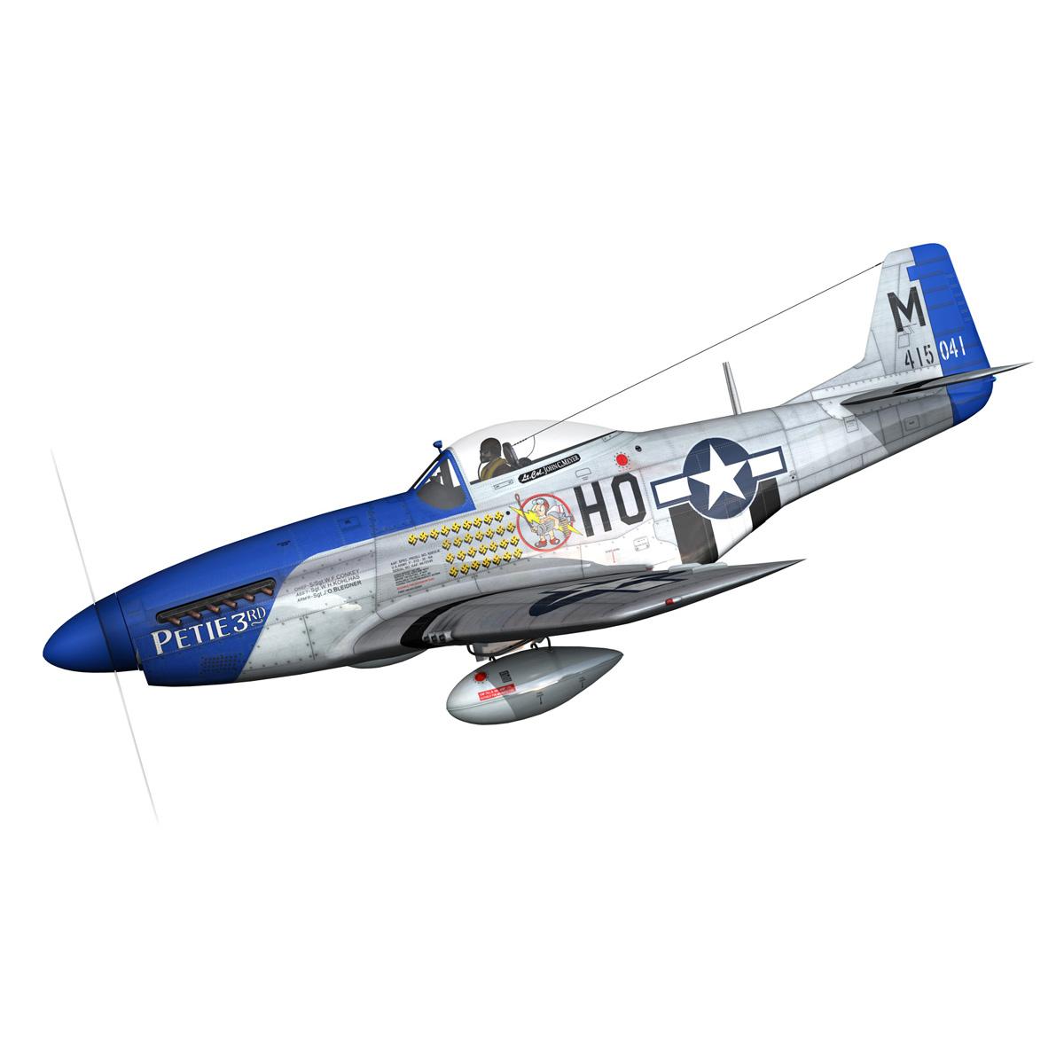 north american p-51d mustang – petie 3rd 3d model fbx c4d lwo obj 280128